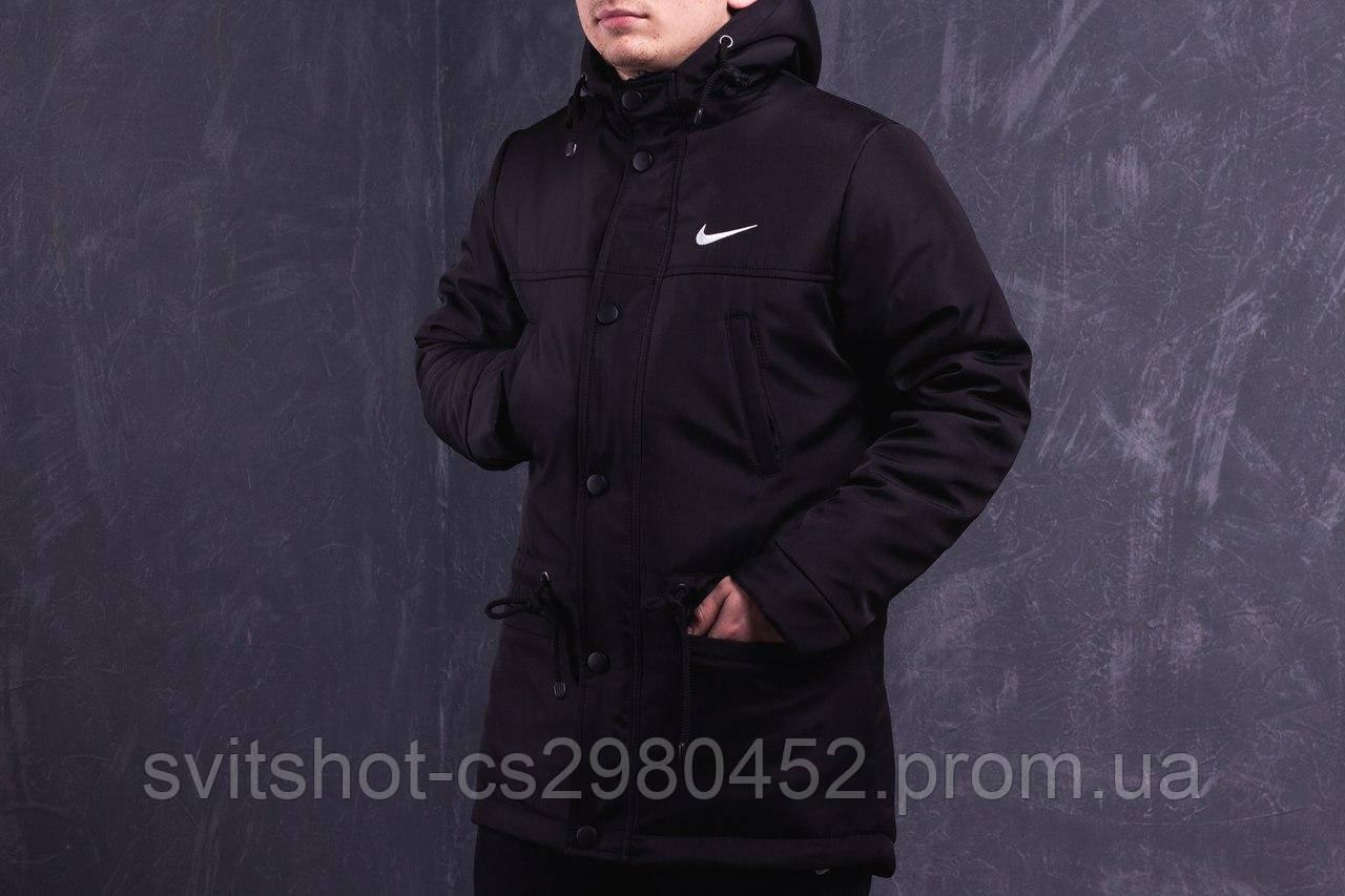 Парка зимняя Nike, чёрная