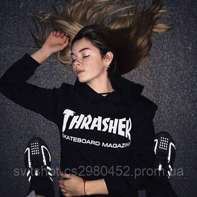 Худи Thrasher, черный Skateboard Magazine