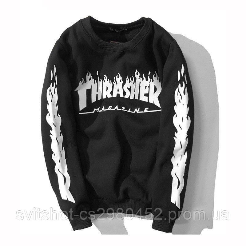 Свитшот Thrasher Magazine (Трешер), огонь