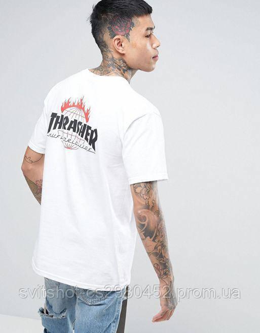 Футболка Thrasher (Трешер),белый Huf Worldwide