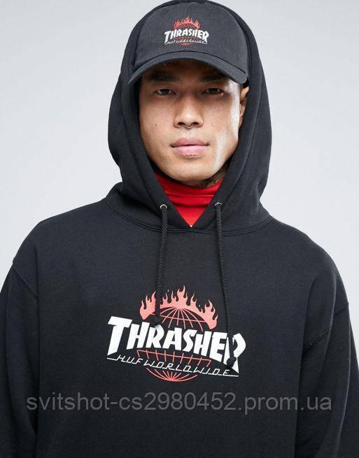 Худи Thrasher, черный Huf Worldwide