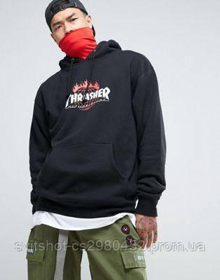 Худи Thrasher, черный большой логотип