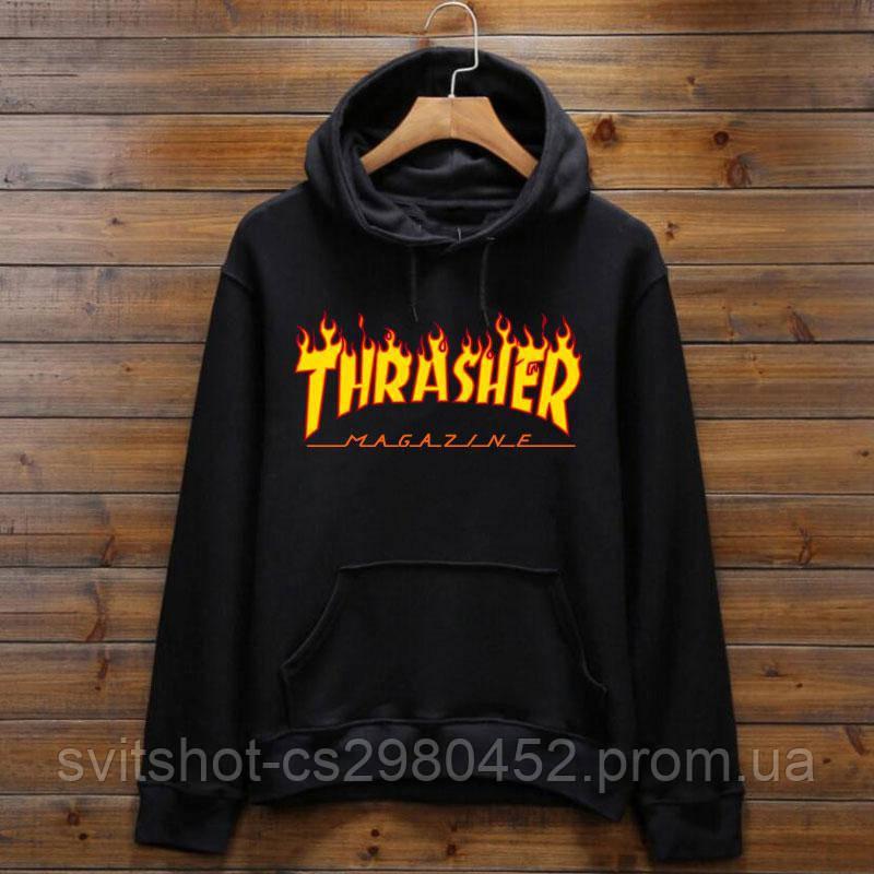 Худи Thrasher, полыхающий