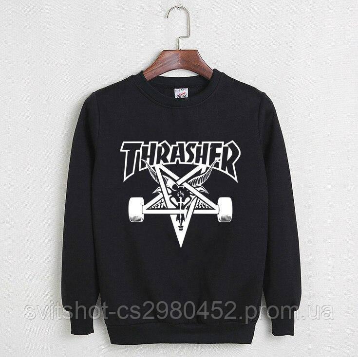 Свитшот Thrasher Magazine (Трешер), черный пентаграмма