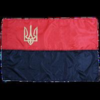 Прапор УПА нейлоновий з тризубом (135х90 см)