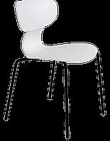Стул Papatya Yugo-S белый, ножки катафорез черный, фото 1
