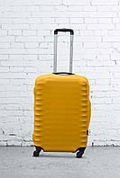 Чехол на чемодан из неопрена желтый S