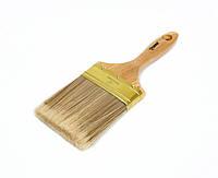 """Кисть плоская Polax """"Чемпион"""" 4"""" (06-006) искусственный  ворс, деревянная ручка"""