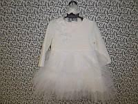 """Платье """"Облачко"""" ТМ Happу ToT размер 62,68,74,80 молочный велюровый , фото 1"""
