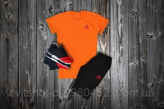 Комплект футболка + шорты Reebok, логотип треугольник