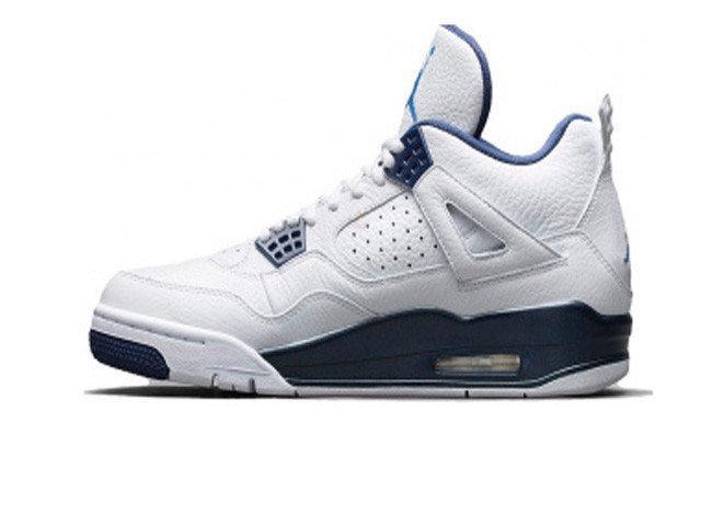 84f074ba7f2a Женские баскетбольные кроссовки Nike Air Jordan Retro 4 White Blue (Реплика  ААА класса)