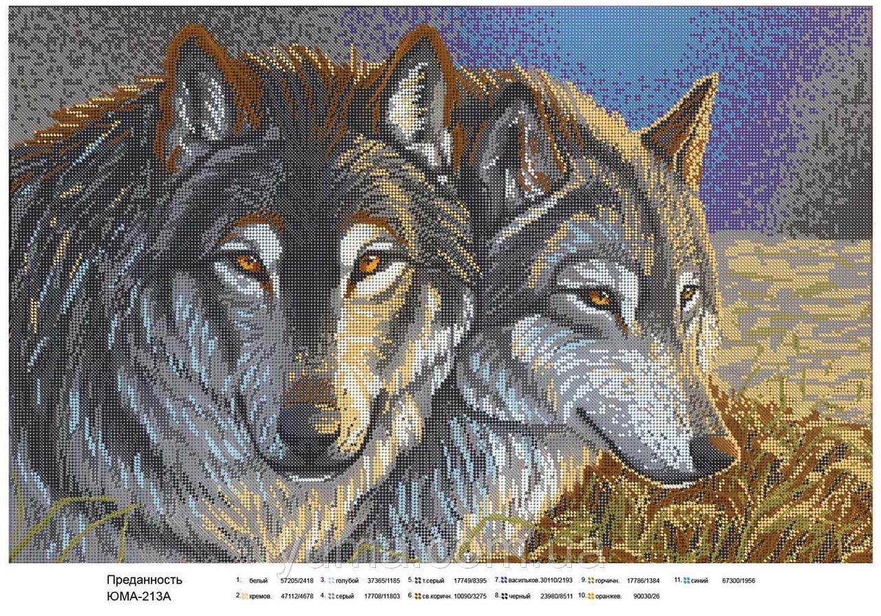 Вышивка пара волков схема фото 129