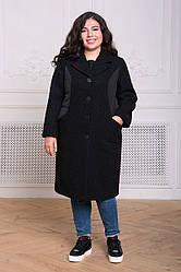 Пальто больших размеров из букле Пирс