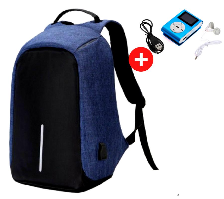 Городской рюкзак антивор Bobby Backpack от XD Design  Синий, Blue, фото 1
