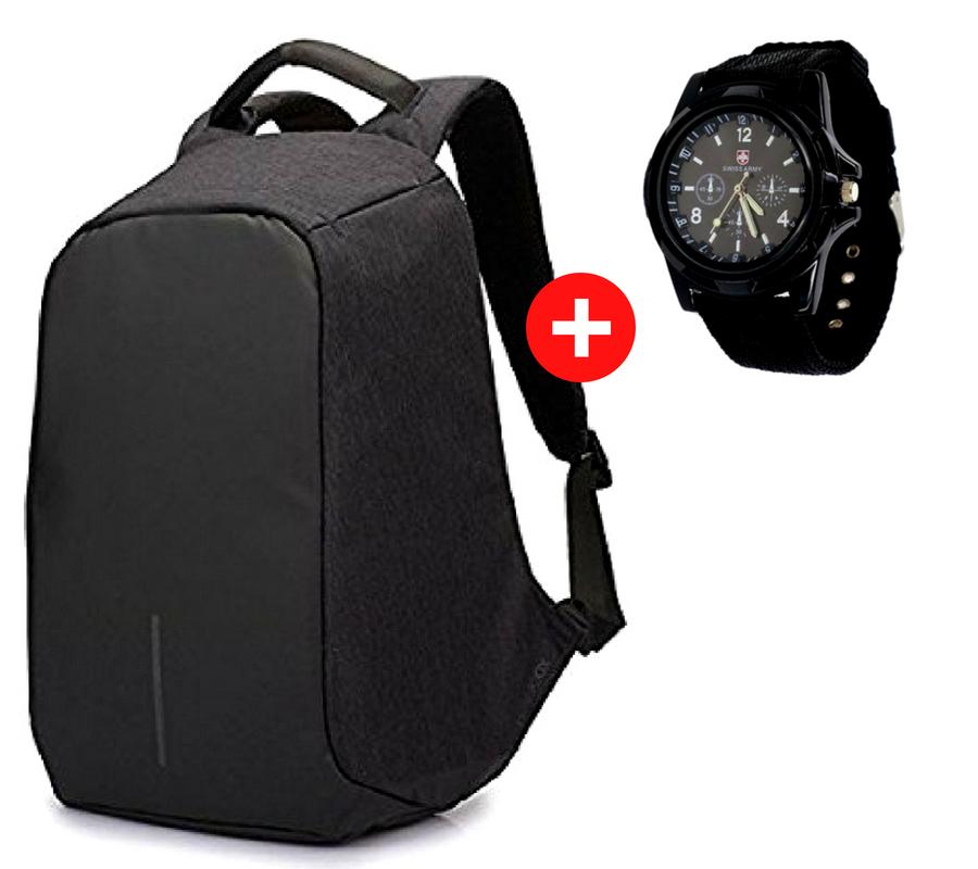 f1572c34cd66 Рюкзак-антивор с USB портом Bobby Backpack Черный, Black.: продажа ...
