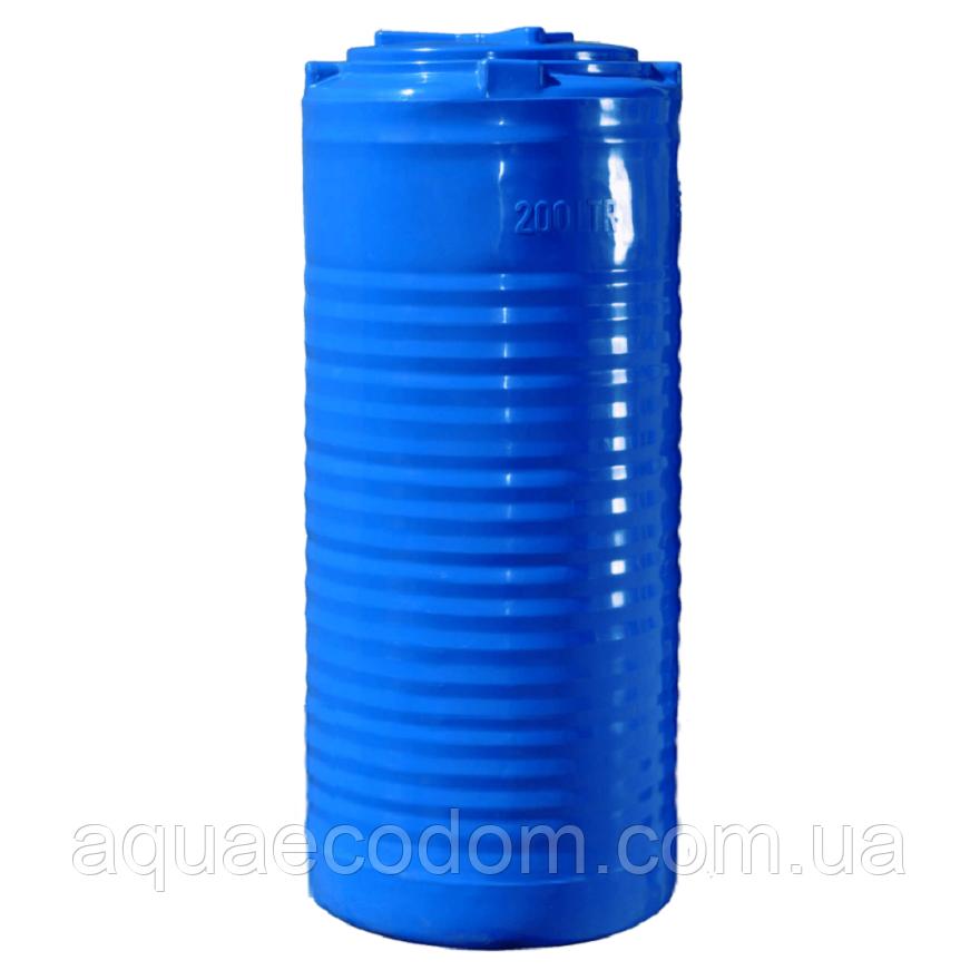 Емкость 200 литров узкая (вертикальная)..