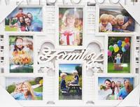 Фоторамка коллаж A002 Family 8ФОТО бел/бронза