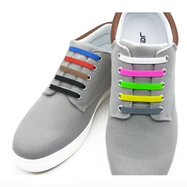 Силиконовые шнурки 8+8 16шт комплект черные 8cef2ae4bf706