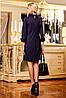 Женское трикотажное темное однотонное платье (1156-1155 svt), фото 3