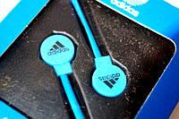 Вакуумные наушники Adidas sport edition Синий неон