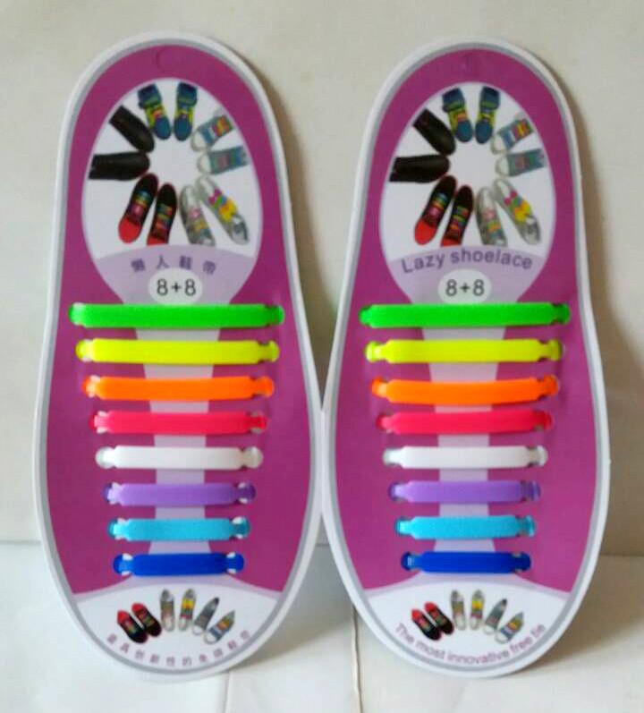Силиконовые шнурки 8+8 16шт комплект радуга - Online Market Plus в Одессе 23a7b68b9f149