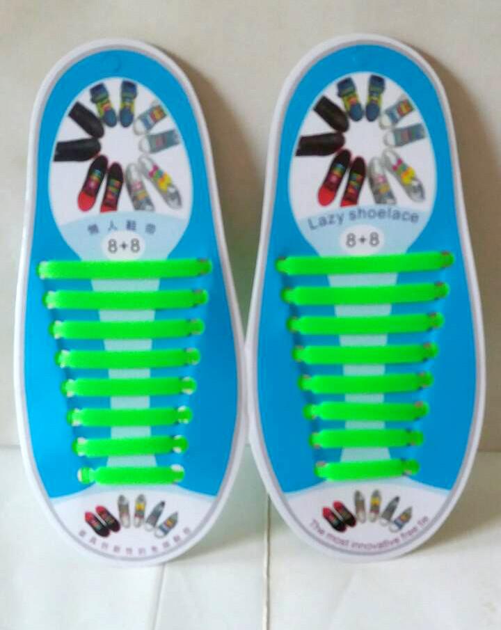 Силиконовые шнурки 8+8 16шт комплект салатовые 217827894042d