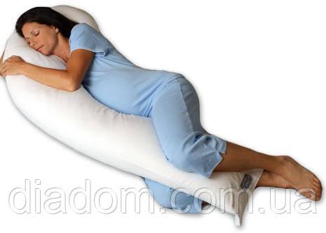 Лежа на боку на подушке для беременных Melody