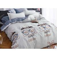 Семейный комплект постельного белья сатин-твил 243