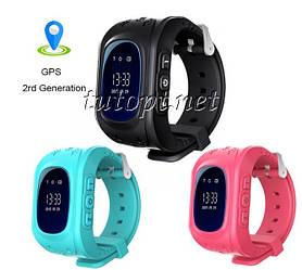Детские смарт часы с GPS трекером,симкартой,шагомер,будильник Smart Baby Watch Q50