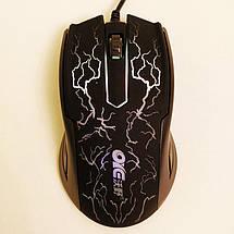 Игровая мышь OIE V19 Lightning, с подсветкой, 1000 dpi, длина кабеля 1.2m, Black, USB, мышка, фото 2