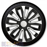 Колпаки для колес Avalon Silver Black R16 (Комплект 4 шт.)