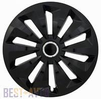 Колпаки для колес Fox black ring R16 (Комплект 4 шт.)