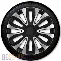 Колпаки для колес Avalon Carbon Silver Black R13 (Комплект 4 шт.)