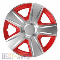 Колпаки для колес Esprit silver&red R14 (Комплект 4 шт.)