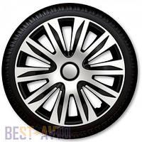 Колпаки для колес Nardo Silver Black R14 (Комплект 4 шт.)