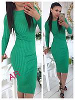 Женское платье из люрекса машинной вязки, в расцветка. АР-9-0818