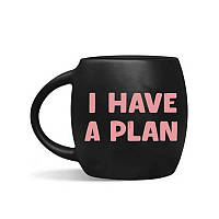 Чашка Orner I have a plan, 450 мл, черная (orner-0470)