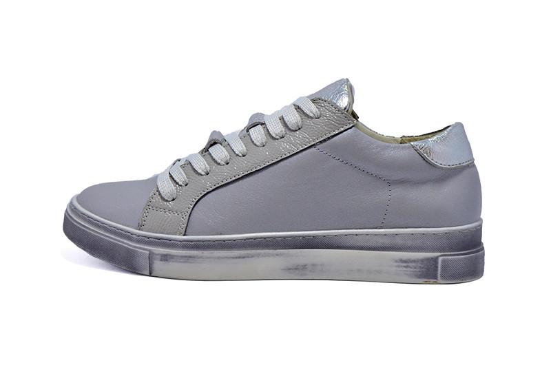 765a9b04c621 Кеды кожаные женские Markos 1510 BQ Gray Silver р. 35 36   продажа ...