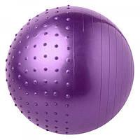 Мяч (фитбол) для фитнеса полумассажный 2 в 1 OSPORT глянец 75см (25415-28)