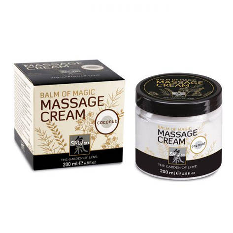 Крем для массажа Shiatsu Balm Of Magic Massage Cream Coconut - кокос, 200 мл, фото 2