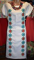 """Літнє жіноче плаття з вишивкою """"Мозаїка"""""""
