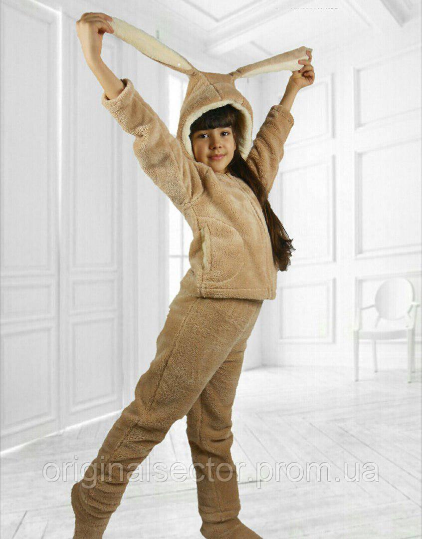Деткий домашний костюм с ушками для девочки 12-14 лет