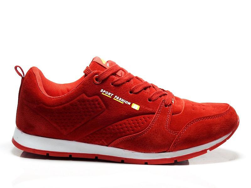 Стильные красные замшевые женские кроссовки для спорта