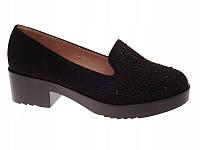 Молодёжные красивые женские туфли на каблуке