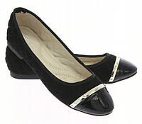 Польские стильные женские балетки с лаковым носком, фото 1