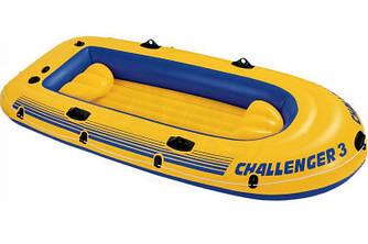 Лодка надувная Intex 68369 Challenger на 3 человека Желтый (int68369)