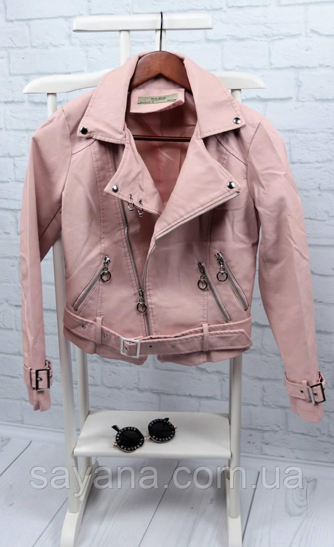 Женская стильная куртка-косуха, в расцветках. БР-1-0818
