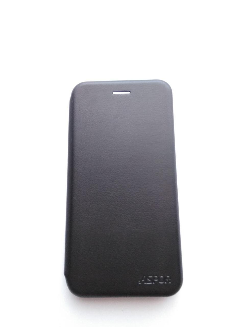 Чехол-книжка для Huawei Y7 Prime 2018/Honor 7C, черный, ASPOR