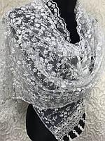 Свадебный шарф(зубчик односторонний)(1)