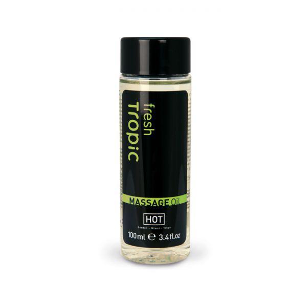 Массажное масло Hot Fresh Tropic Massage Oil, 100 мл
